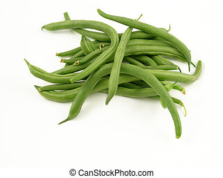 String beans, isolated on white