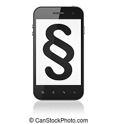 Law concept: Paragraph on smartphone