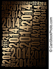 2014 Year background - 2014 Year word cloud holiday...