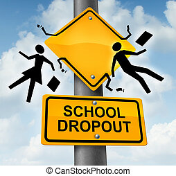 School Dropout - School dropout concept and dropping out of...