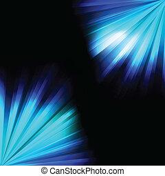 Blue burst light background vector