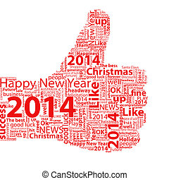 Thumb Up Symbol 2014 - Thumbs up symbol 2014 year, which is...
