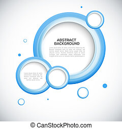 Abstract 3D blue circles background - Abstract 3D blue...