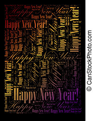 Happy New Year background - Happy New Year holiday word...
