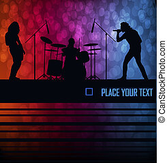 Rock band vector background for poster