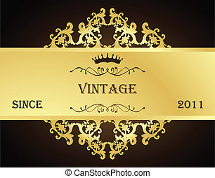 Vintage vector background for poster