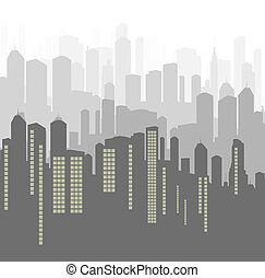 City vector background panorama for poster