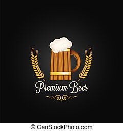 beer mug barley design background 10 eps