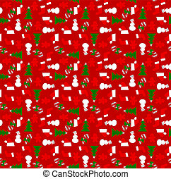 Xmas wrapping paper - A wrapping paper with Christmas...