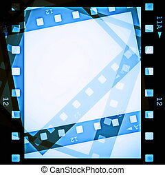 blank film strip frame
