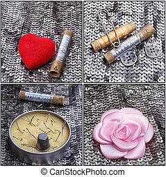 拼貼藝術, 裁縫, 工具