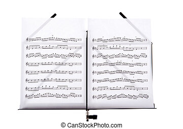 music stand with melody sheets - Melody sheets on a music...