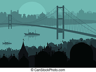 City background vector for poster