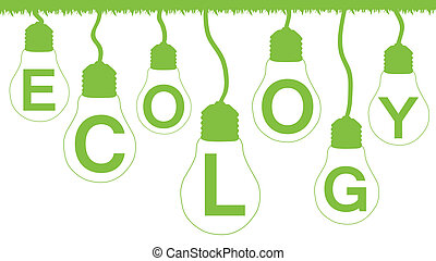 Alternative energy vector background poster
