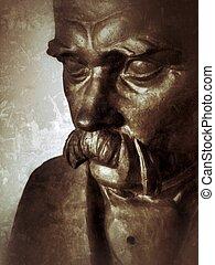 The bust - bronze bust