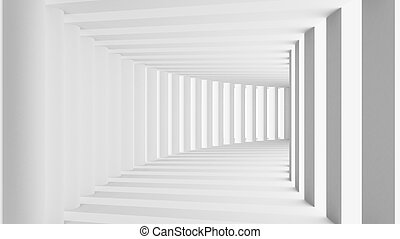 Abstract 3d render tunnel with arch
