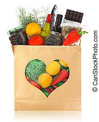 a, melhor, alimentos, saudável, Coração