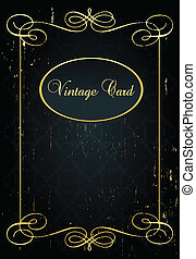 Luxury golden vintage background elements