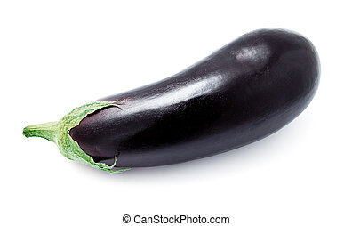 Aubergine - Ripe fresh aubergine or eggplant isolated on...