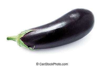 Aubergine - Ripe fresh aubergine or eggplant isolated on...