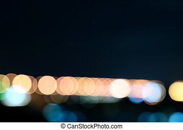 Cool tone bokeh - Abstract background of bokeh light for...