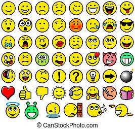 Classic retro style 54 smileys
