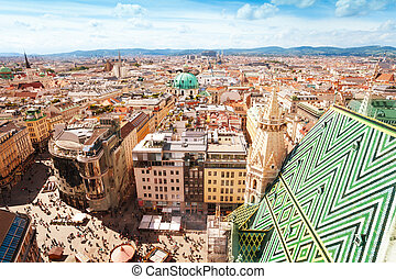 Stephansplatz and cityscape of Vienna - View from St....