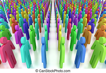 group of colorful 3d figures - Illustration of group of...