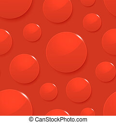 Blood drops on red. Vector seamless background