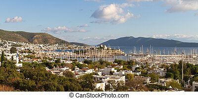 Bodrum Town and Castle in Turkey