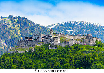 Landskron castle walls - Walls and fortification of the...