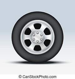 Wheel of car. Vector Illustration - Wheel disk of car. Crome...
