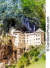 Castle in the mountain - Predjama castle in the mountain,...