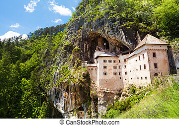 Predjama castle - Panorama of Predjama castle build inside...