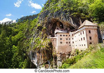 Predjama castle - Panorama of Predjama castle build inside...