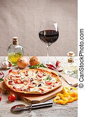 Homemade pizza - Still life of fresh homemade pizza