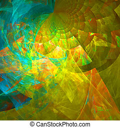 Abstract background Blue - yellow palette Raster fractal...
