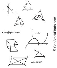 Geometry vector - Sheet with geometry pattern. Vector...