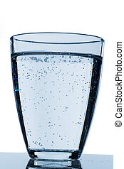 a glass of water - glass of water against white background,...