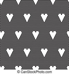 Black lace vector fabric seamless  pattern