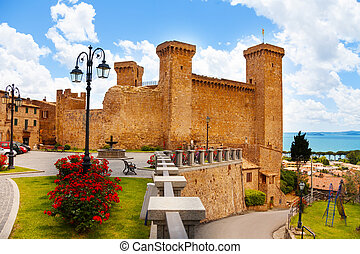 Bolsena billage castle and lake - Bolsena village castle and...