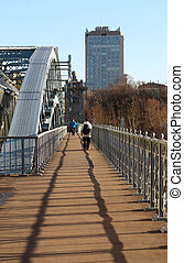 Andrew pedestrian bridge in Moscow
