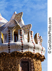 Park guell - Interesting patterns Mota Barcelona Park Guell