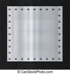 steel and carbon fibre - great image steel plate on carbon...