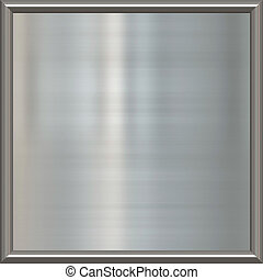 metal award frame - great image of shiny silver or steel...