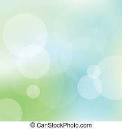 Green and blue abstract light vector background for card