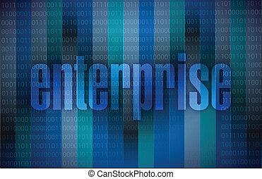 enterprise message illustration design