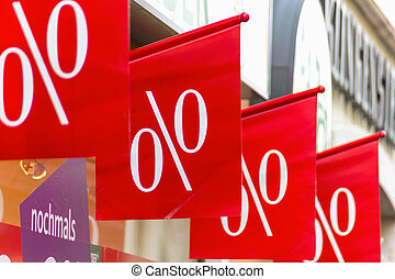 retail price reduction percentage, symbol photo for low...