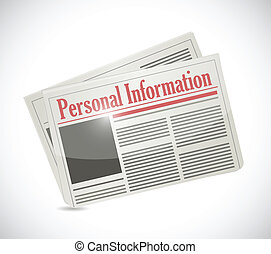 personal information newspaper illustration design over...