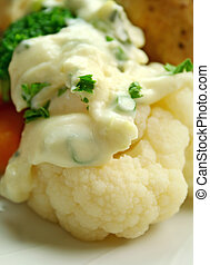 Cauliflower And White Sauce - Delicious cauliflower with a...